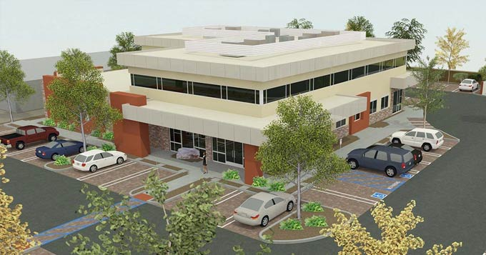 Lompoc Radiation Oncology Center computer rendering of building